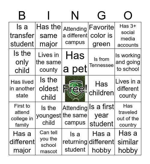 Columbia State Community College Bingo Card