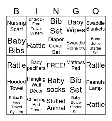 Na's Baby Shower BINGO Card