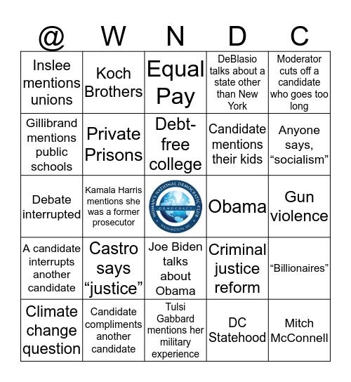 2020 Democratic Debates Bingo Card