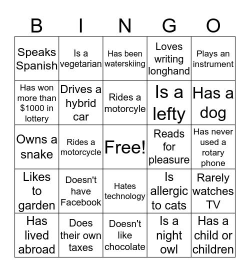 NTO BINGO! Bingo Card