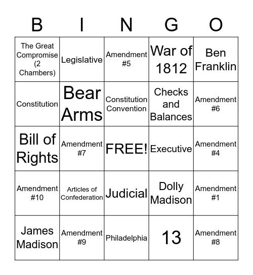 Third 9 Weeks Review Bingo Card