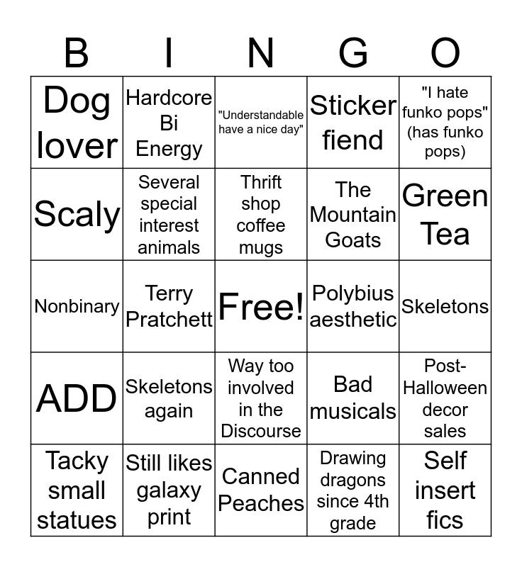 BINGO: Skelekin Edition Bingo Card