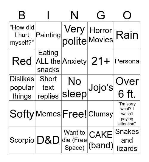 Like me Bingo Card