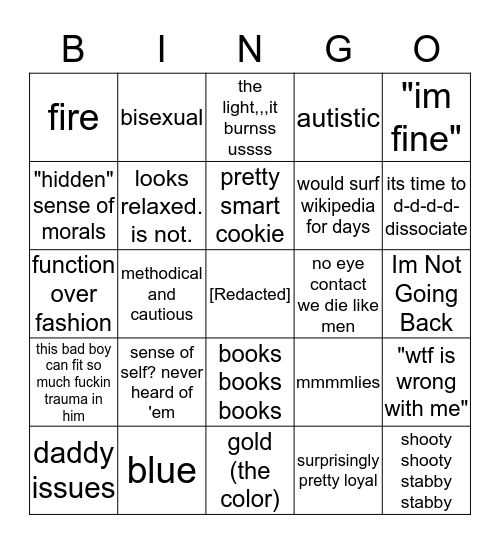 Claysen Bingo Card