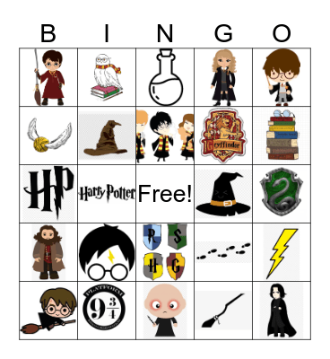 HARRY POTTER! Bingo Card