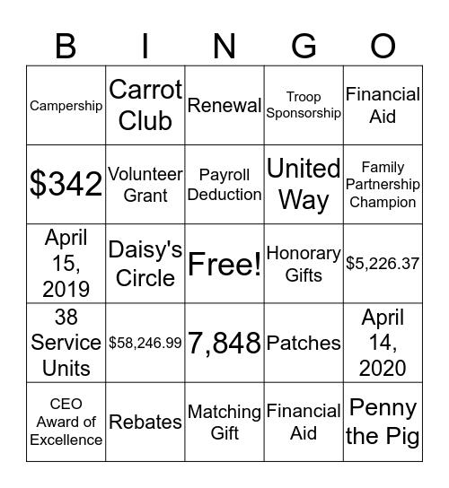 Family Partnership Bingo Card