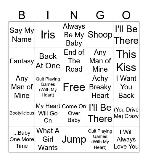 90's Singo Bingo Card