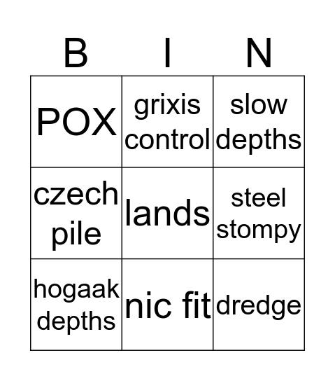 Guys do I build ___ Bingo Card
