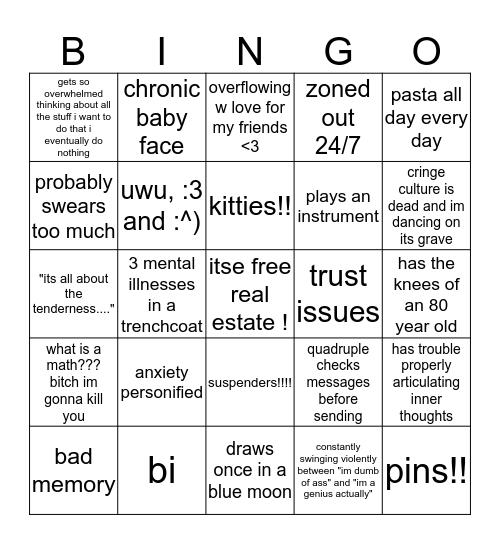 lauras bingo Card