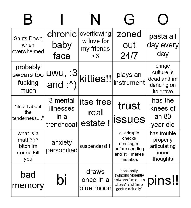 lauras bing bong Bingo Card