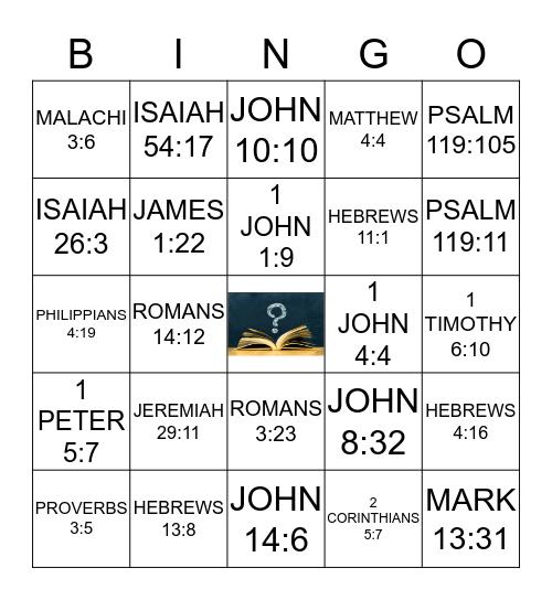 SCRIPTURAL LEARNING Bingo Card