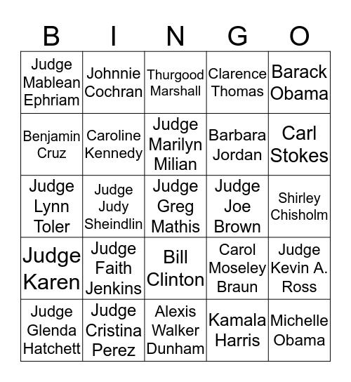 LEXI'S LAW & ORDER Bingo Card