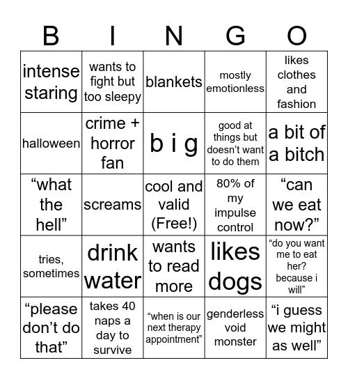 Claudius Bingo Card