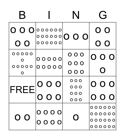 BINGO! Who Has the Array? Bingo Card