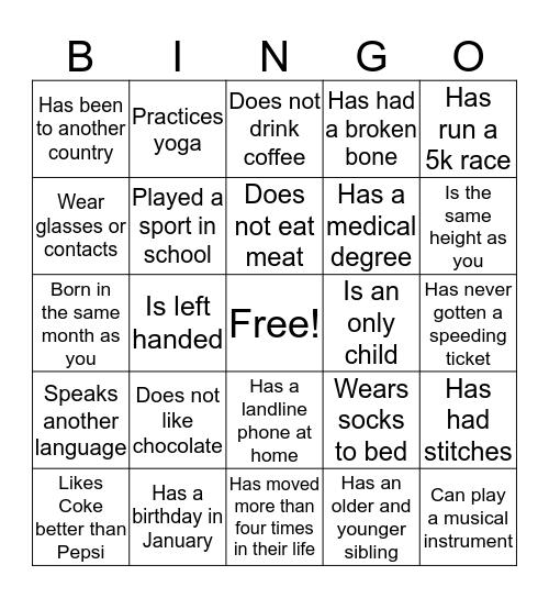 Denise's Bingo Card