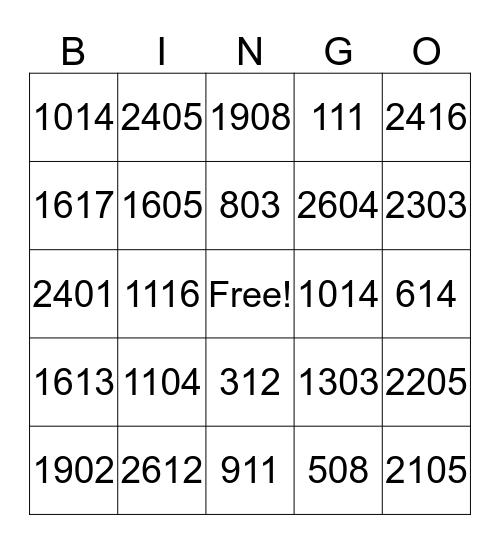August Bingo Challenge Bingo Card