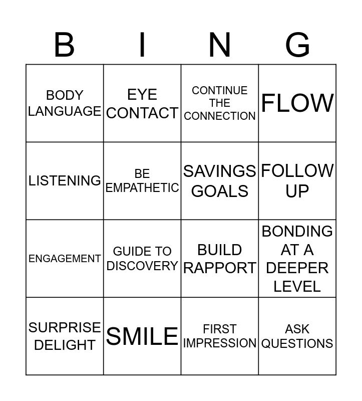 FLOW BINGO  Bingo Card