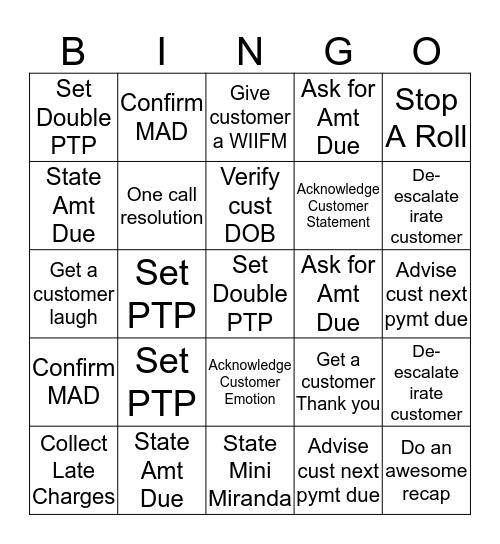 QA Bingo Card