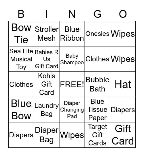 Baby Bybee Bingo Card