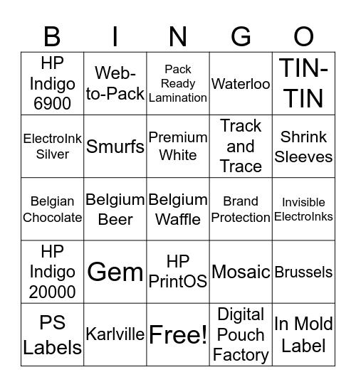 HP Indigo - LabelExpo BINGO Card