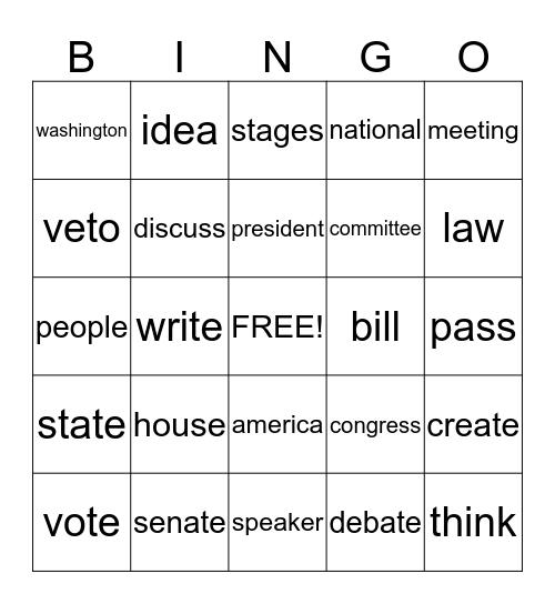 Political Bingo Card