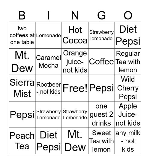 Drink it Up! Bingo Card