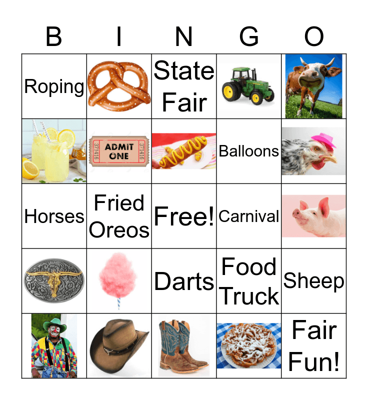 State Fair Bingo! Bingo Card