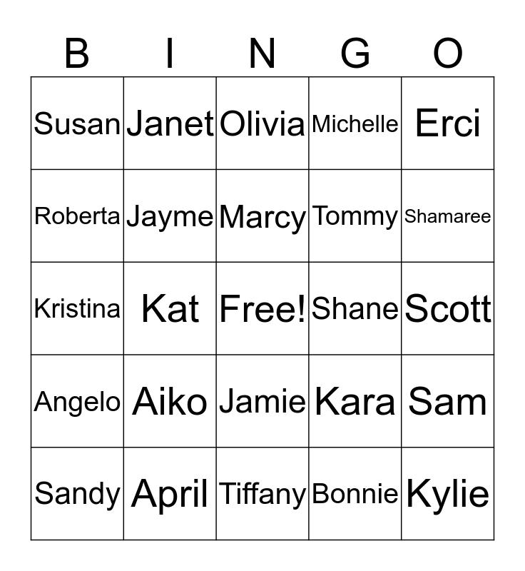 Riverview Therapy Team! Bingo Card