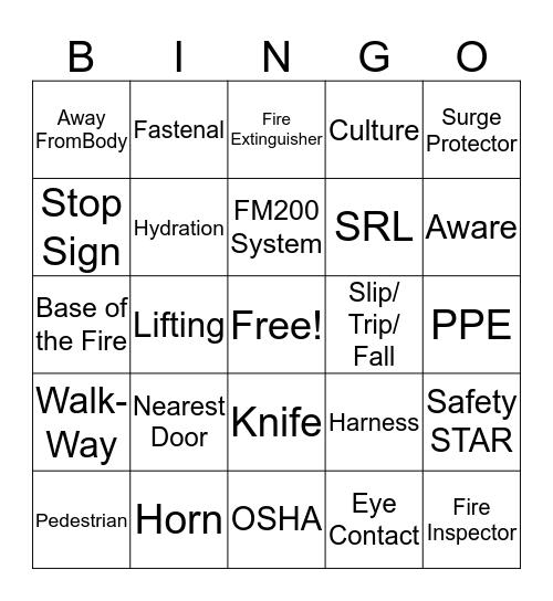 I Am Safe Day Bingo Card
