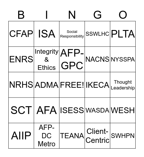 Fernley & Fernley Bingo Card
