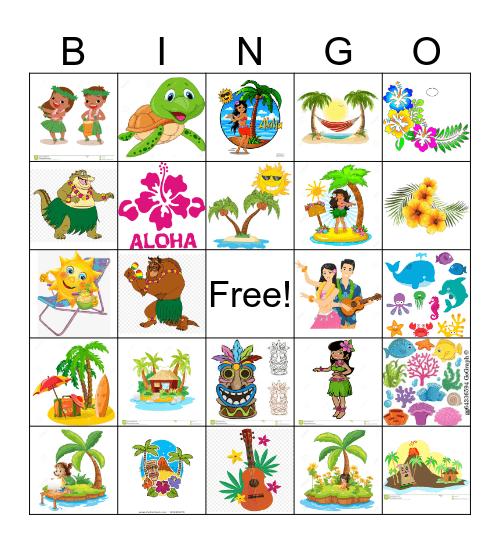 Hawaii Bingo Card