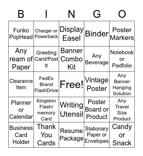 Plus One Bingo Card