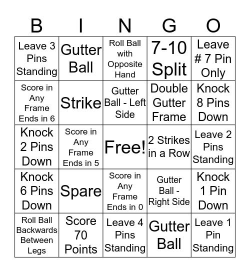 R1 Family Appreciation Bowling BINGO Card