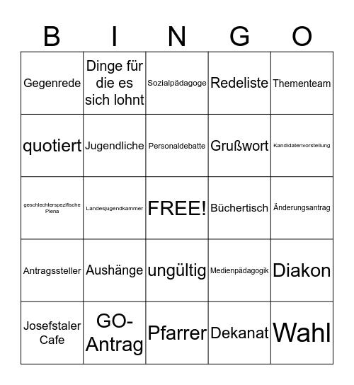 EJ- Bullshit Bingo Card
