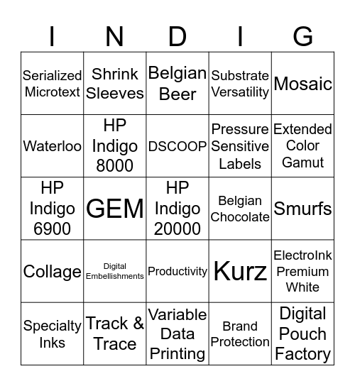 bingo aug 27 Bingo Card