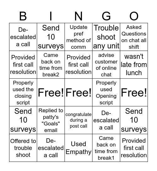 Everything Bingo  Bingo Card