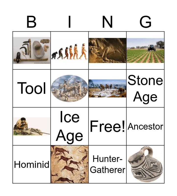 Early Human Vocab Bingo Card