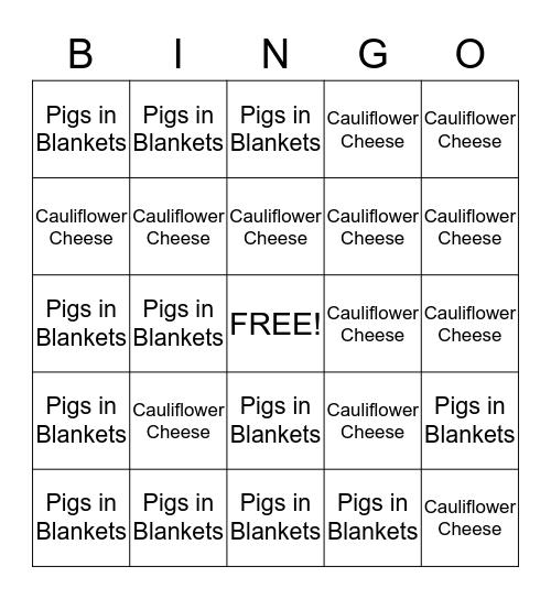 Sunday Sides Bingo Card
