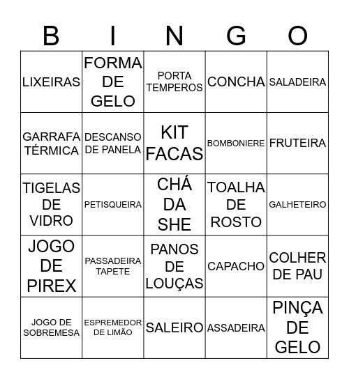 CHÁ DA SHE Bingo Card