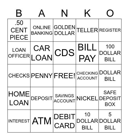 BANKO Bingo Card