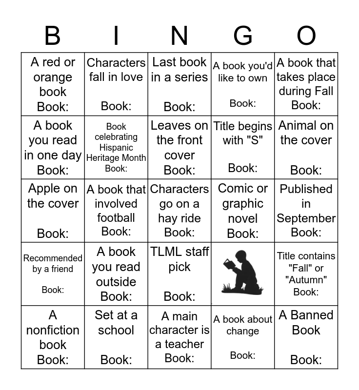 Monthly Book Bingo  Bingo Card