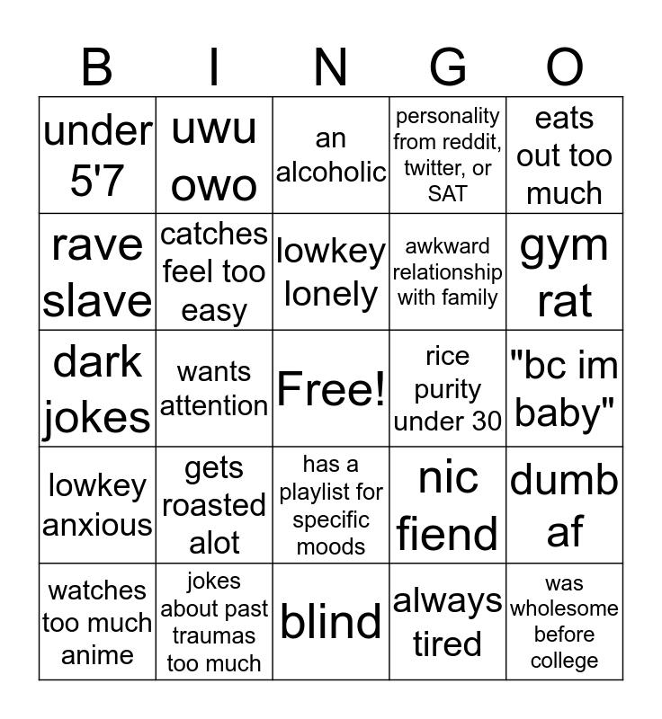 Alonzo Bingo Card