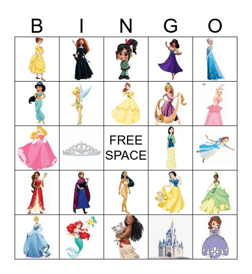 Disney Princess Bingo Card
