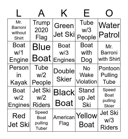 Lake-O Bingo Card