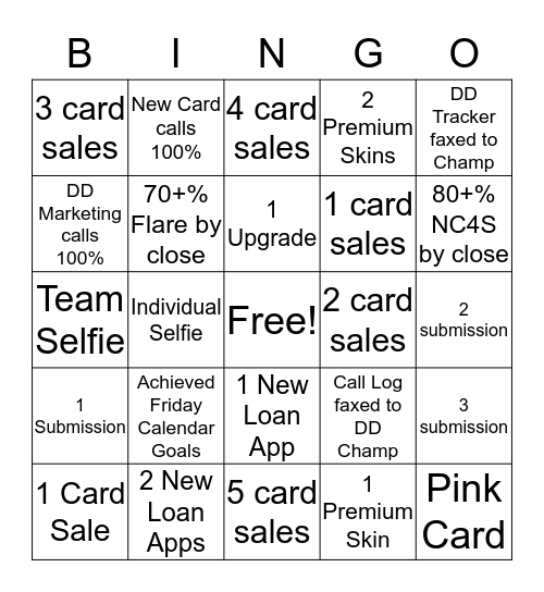 Finally Friday Bingo Card