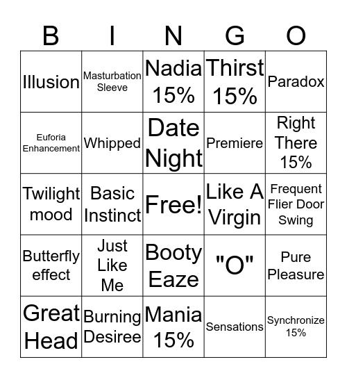 Pure Romance Bachelorette  Bingo Card