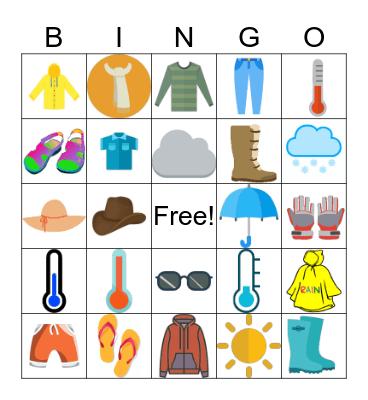 Lesson 5: Styles Around the World Bingo Card