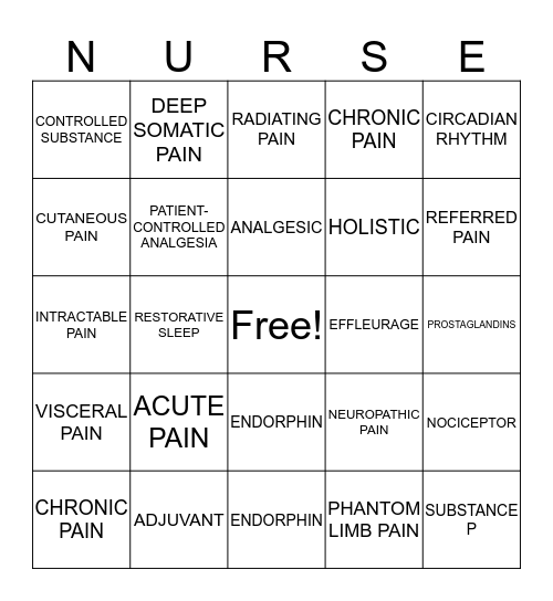 Chapter 19 Bingo Card