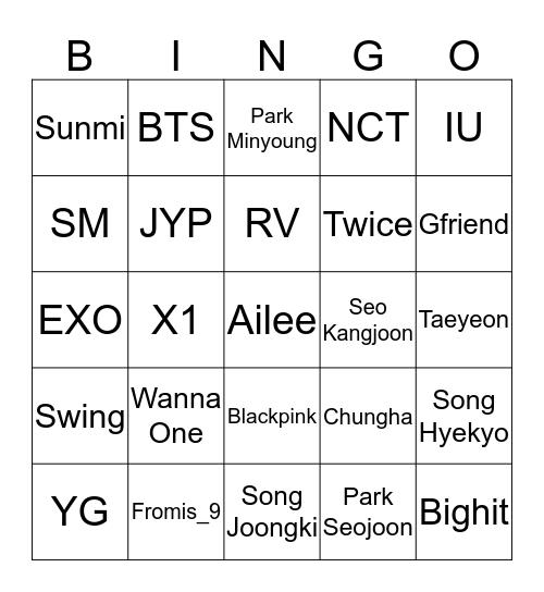 2019.09.03 Bingo Card