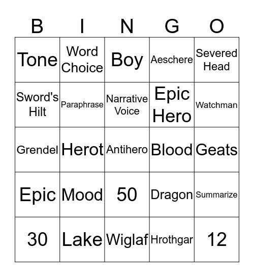 Beowulf Bingo Card